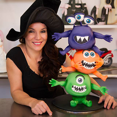 halloween monsters cake decorating class tutorial