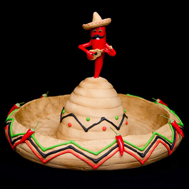 sombrero and chili cake decorating class tutorial