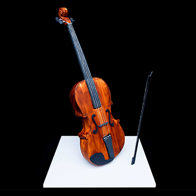 Violin cake decorating class tutorial