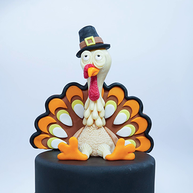 thanks giving turkey cake
