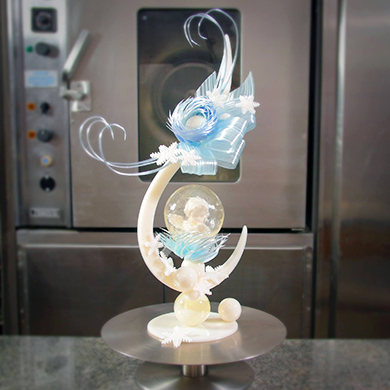 Christmas Angel Isomalt Showpiece cake decorating class tutorial