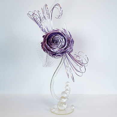 lilac showpiece isomalt cake decorating class tutorial