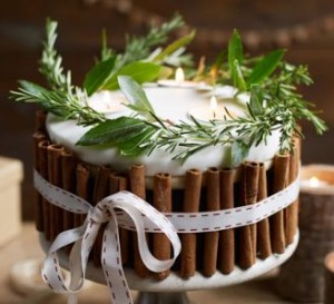 midwinter candle cake