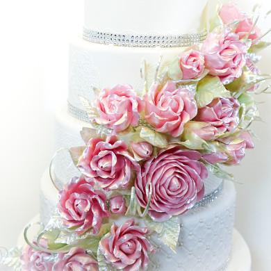 Pink Isomalt Roses 1