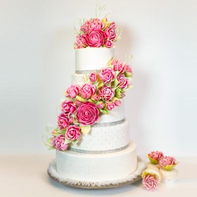 Pink Isomalt Roses