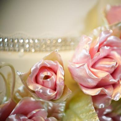 Pink Isomalt Roses 7