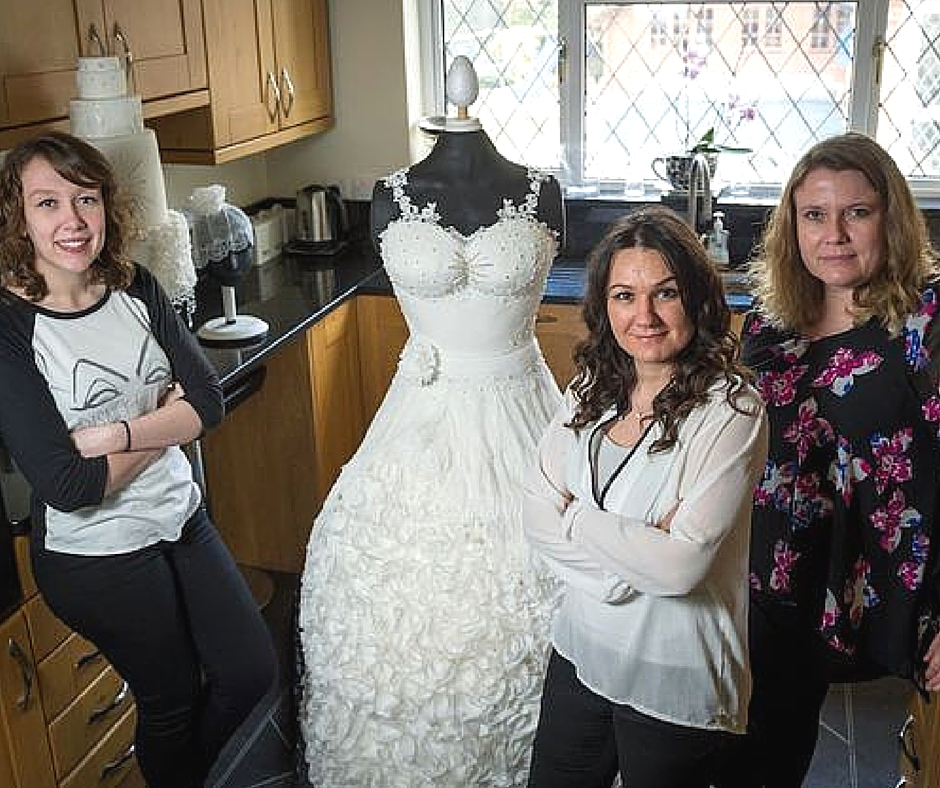 Weddible Dress by Sylvia Elba in the Mirror on Learn Cake Decorating Online 2