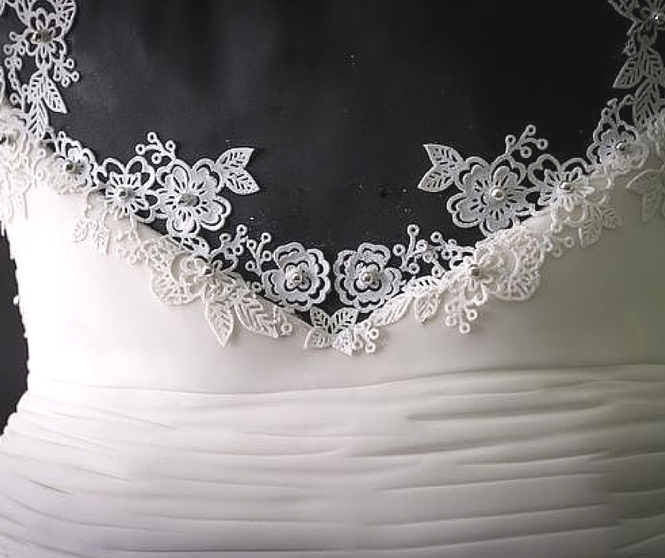 Weddible Dress by Sylvia Elba in the Mirror on Learn Cake Decorating Online 1