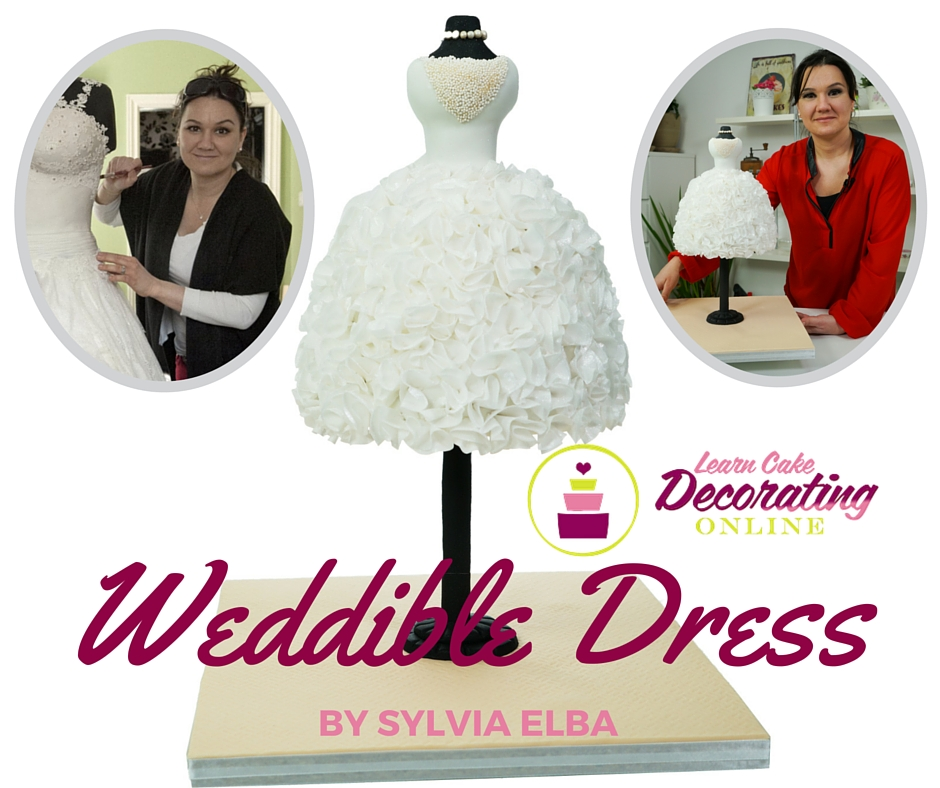 Weddible Dress by Sylvia Elba on Learn Cake Decorating Online