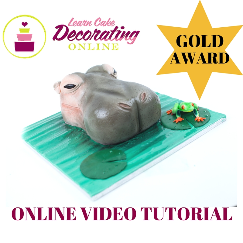 Hippo and Frog Cake tutorial with Rose Macefield for Learn Cake Decorating Online
