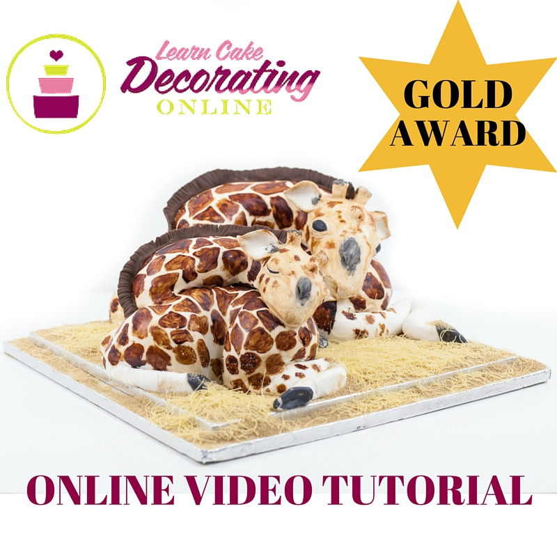 Mom and baby giraffe tutorial with Rose Macefield for Learn Cake Decorating Online