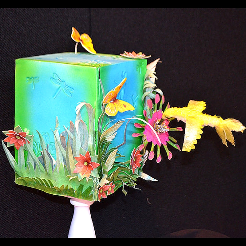 Wafer paper cake by Sylvia Elba with Fabriliquid