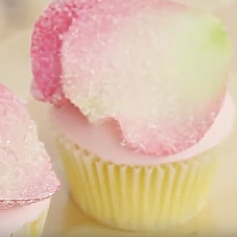 Sugar Rose Petal Cupcake