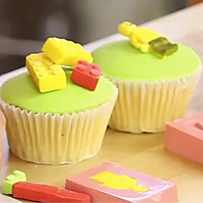 lego cupcake tutorial