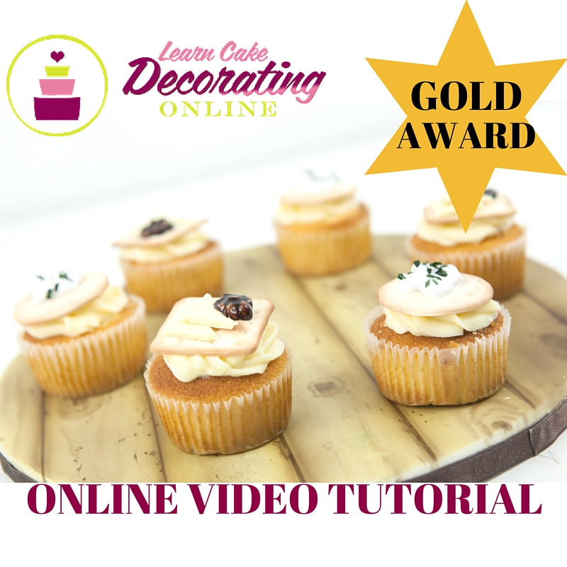 Yvette Marner Cheese and Crackers Cupcake Tutorial