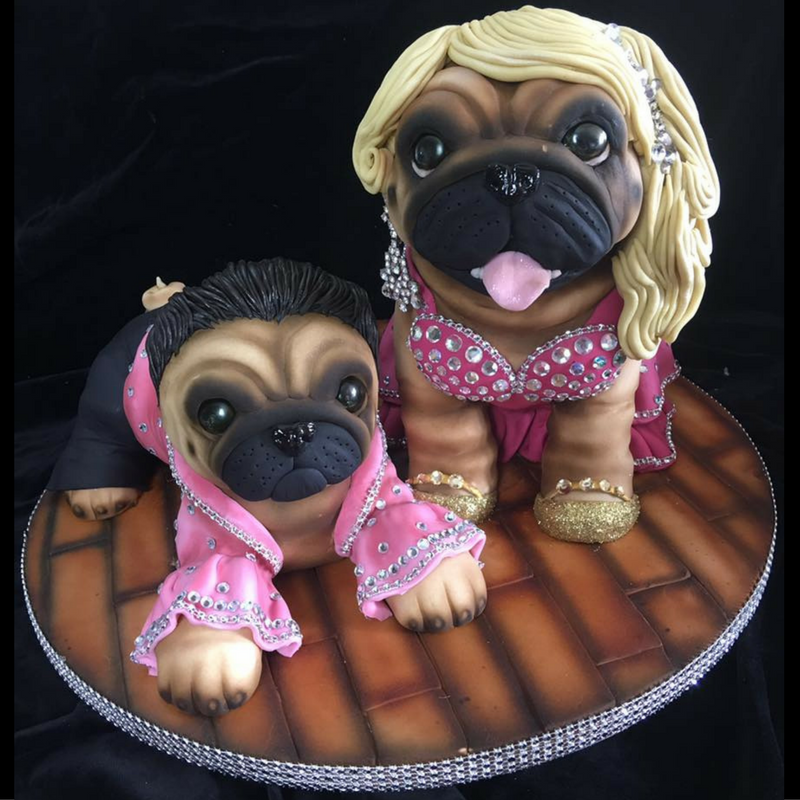 Molly Robbins Stricktly Pug Dancing Cake