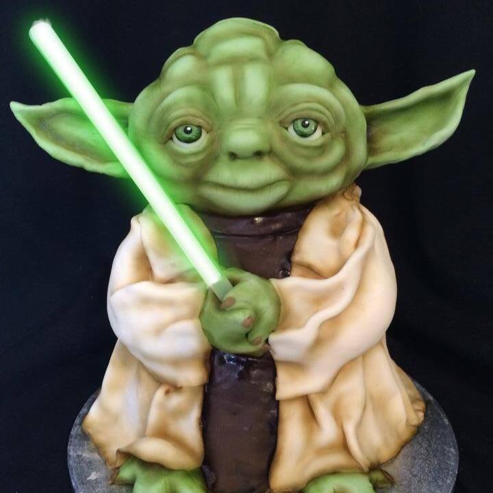 Molly Robbins Yoda Cake