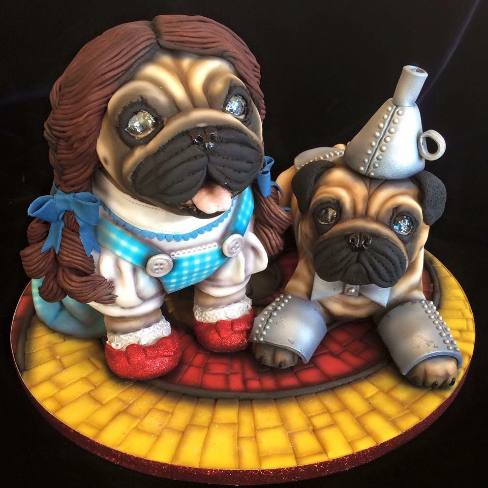 Molly Robbins Pug Dorothy Cake