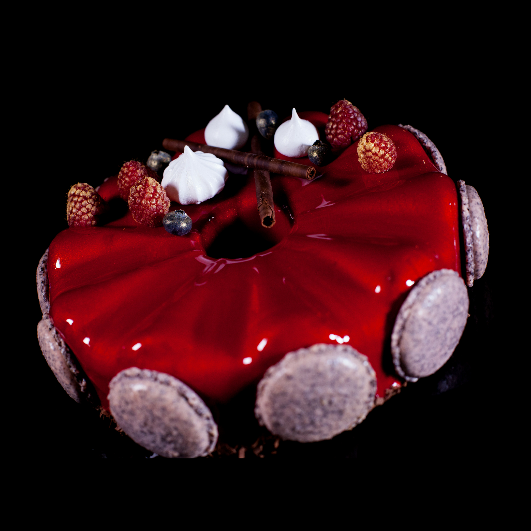 Red Mirror Glaze Cake